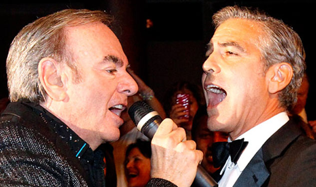 WATCH George Clooney's Duet with Neil Diamond