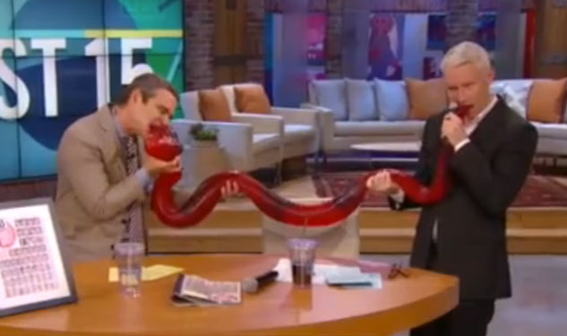 WATCH: Anderson Cooper, Andy Cohen Share Party Python