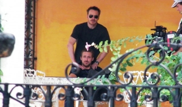 LOOK: Ryan Gosling Gets A Massage from Michael Fassbender