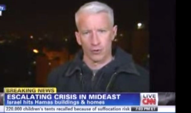WATCH: Anderson Cooper's Close Call in Gaza