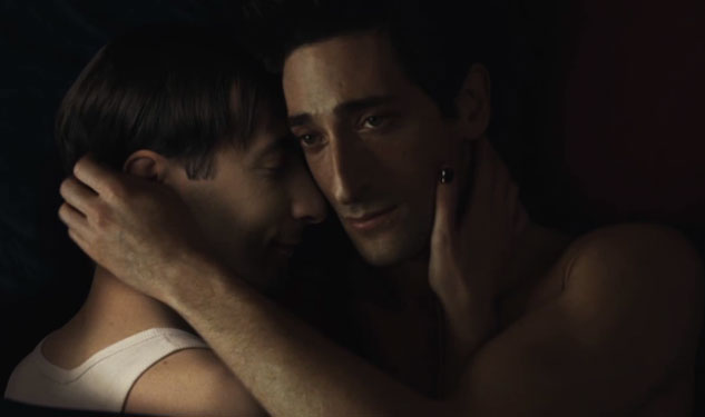 WATCH: Adrien Brody Kisses a Man