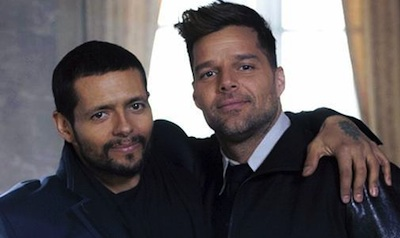Draco Rosa and Ricky Martin Together Again