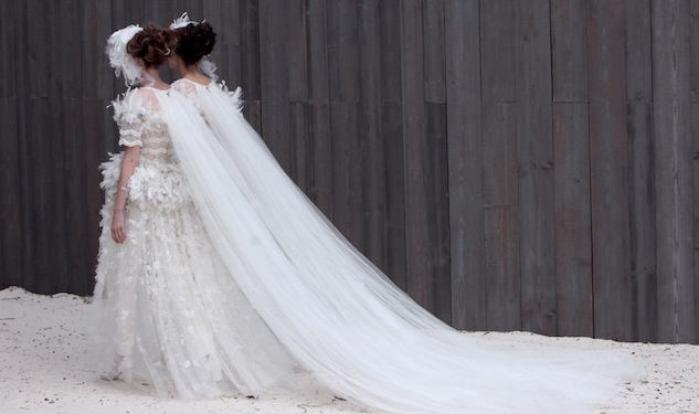 Two Brides Close The Chanel Couture Show