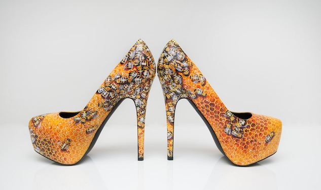 Sneak Peak of What's New in Gaga's Closet: Custom Queen Bee Shoes