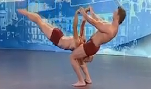 WATCH: Male Gymnast Duo Perform Super Human Tricks