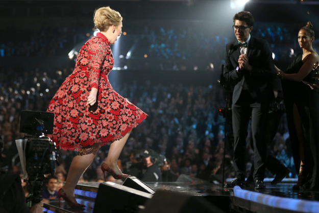 J.Lo Saves Adele from Grammy Prankster