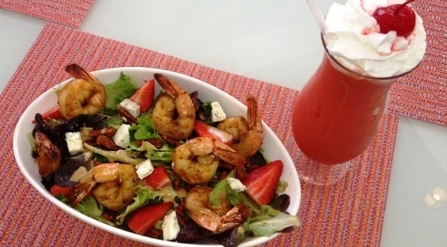 Try This At Home: Strawberry and Blackened Shrimp Salad