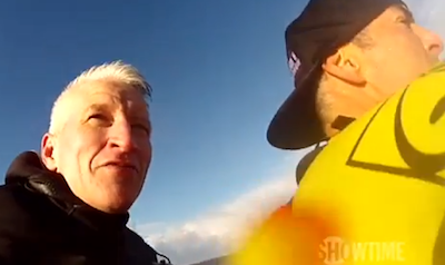 WATCH: Anderson Cooper's Wild Ride with Garrett McNamara