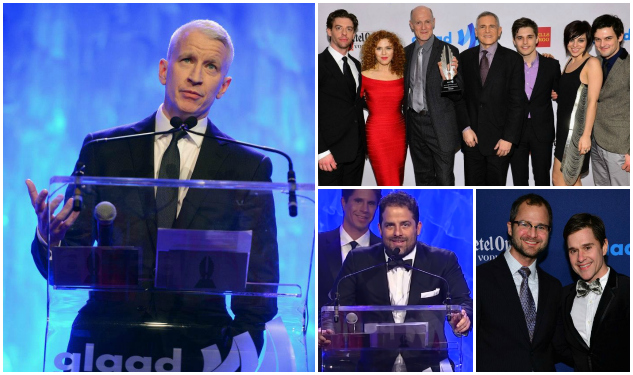 GLAAD Honors Anderson Cooper, Brett Ratner, Smash, Amazing Race, Out, & Advocate