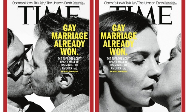 2 Couples, 2 Covers For Gay Marriage 'Time'
