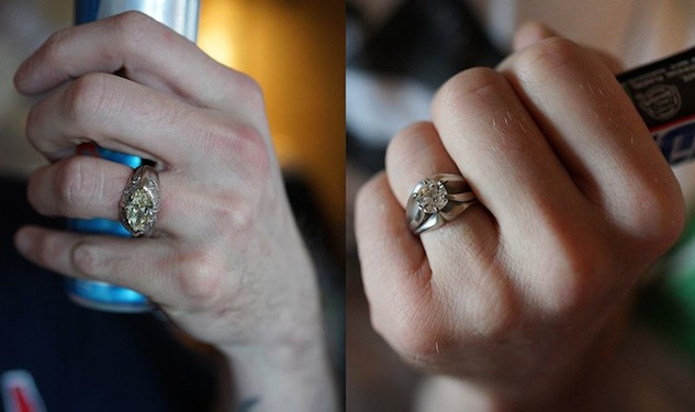 Augusten Burroughs Shows Off Wedding Rings