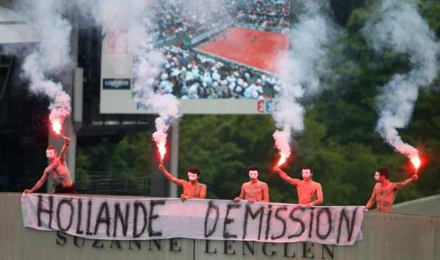 Watch: A Giant Flame To Protest French Gay Nups