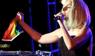 WATCH: Lady Gaga Sing National Anthem at NYC Pride Rally