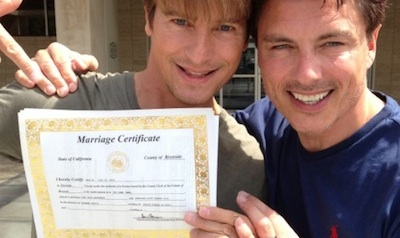 John Barrowman and his Partner Marry in California
