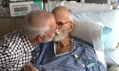 Larry Kramer & David Webster Married