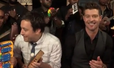 WATCH: Jimmy Fallon & Robin Thicke, Au Gratin