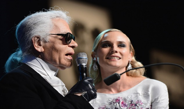 Quote of the Day: Diane Kruger Drinks Until 4 am with Karl Lagerfeld