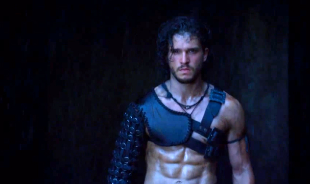 WATCH: Kit Harington's Abs In 'Pompeii'