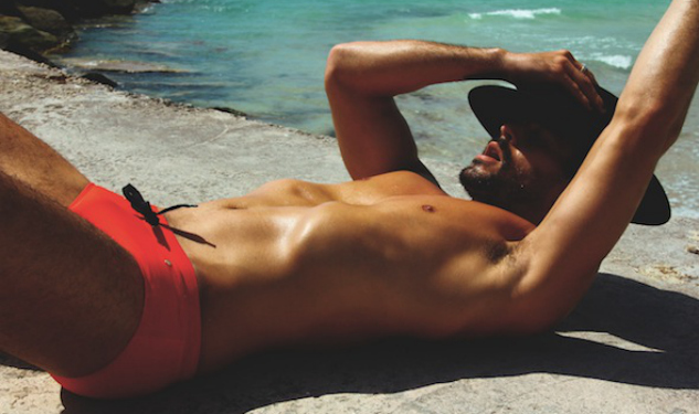 Model Watch: Frederick Valentin In Charlie By Matthew Zink Swimwear