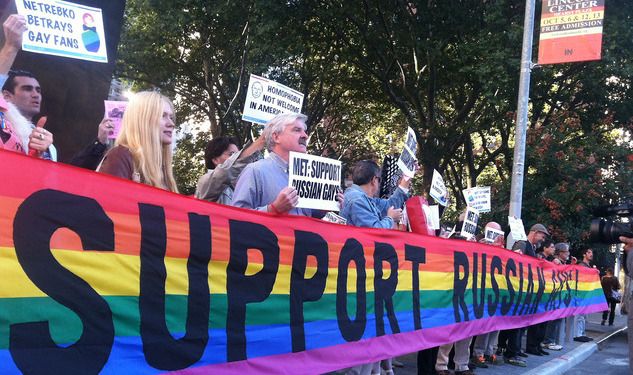 Queer Nation and Patrick Stewart Protest Anti-Gay Russia at The Met