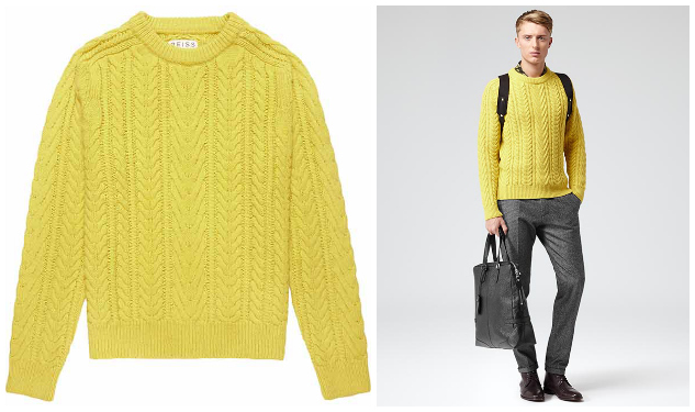 Daily Crush: Chunky Cable Knit Sweater By Reiss