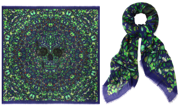 Daily Crush: Alexander McQueen Anniversary Scarves by Damien Hirst