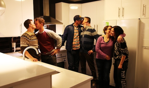 Queer Kiss-In at Brooklyn Ikea