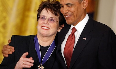Obama Selects Billie Jean King for Sochi Delegation