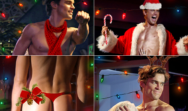 Wish Someone A Merry Xmas With These Matt Bomer Magic Mike Holiday Cards