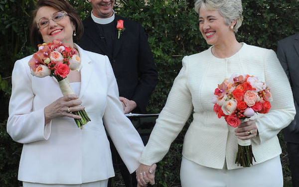 Houston Mayor Annise Parker Married Longtime Partner Kathy Hubbard in Palm Springs