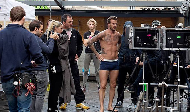 Super Bowl Preview: David Beckham Scales Buildings in His Undies