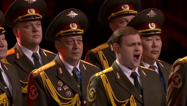 "Russian Police Choir Performs ""Get Lucky"" at Sochi Opening Ceremony"