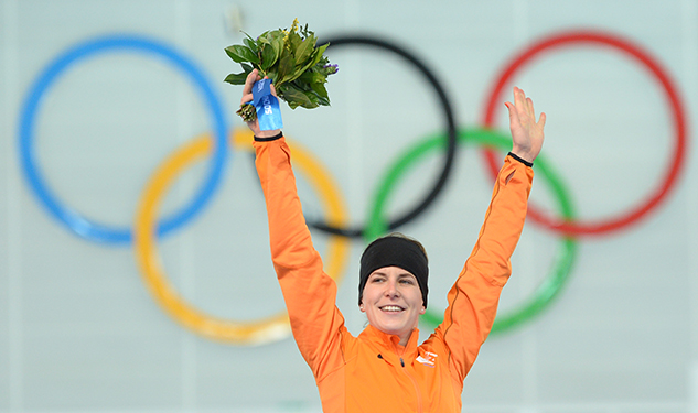 Out Speed Skater Irene Wust Wins Gold