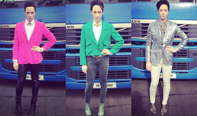 Best-Dressed Man of the Week: Johnny Weir at Sochi