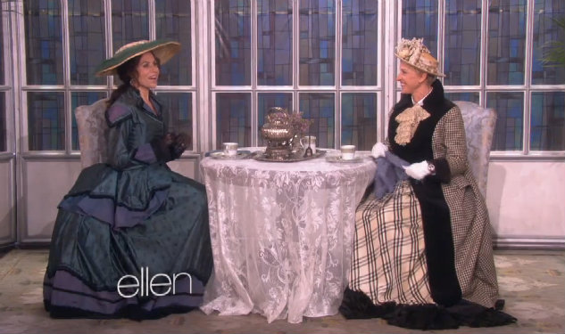 Ellen And Minnie Driver Make Downton Abbey Audition Tape