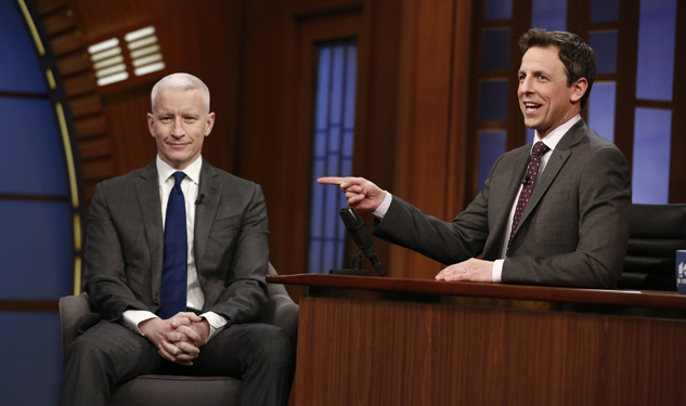 WATCH: Anderson Cooper and Seth Meyers Are Gay Gym Buddies