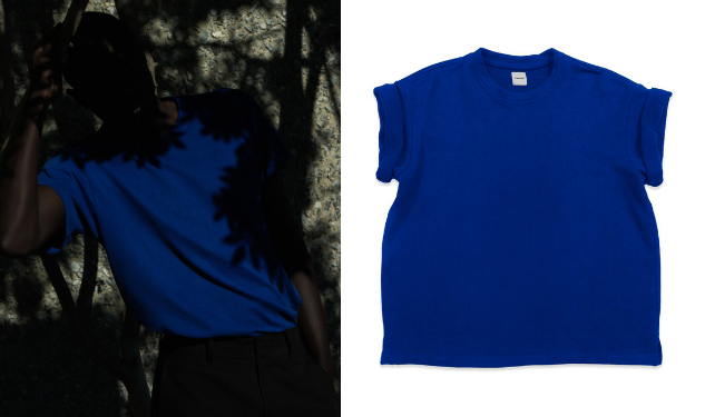 Daily Crush: Ultramarine Cotton Hemp Tee by Fanmail