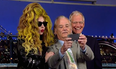Lady Gaga, Bill Murray & David Letterman Walk Into a Bar...