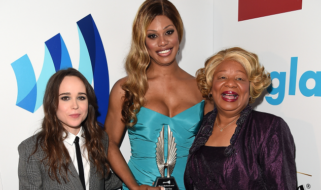 Ellen Page Presents Laverne Cox with GLAAD Media Award