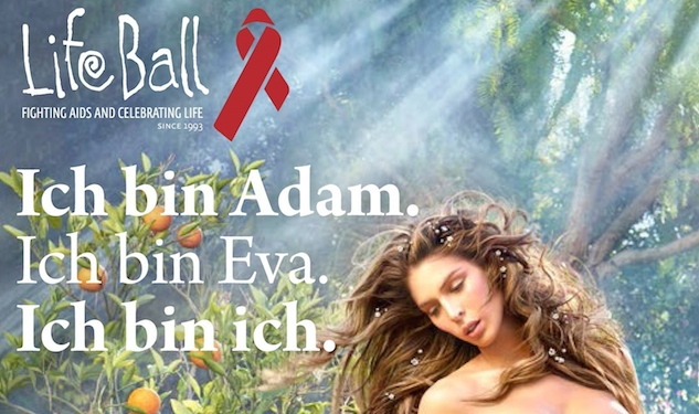 Carmen Carrera Naked On The Life Ball Poster Photographed by David LaChapelle