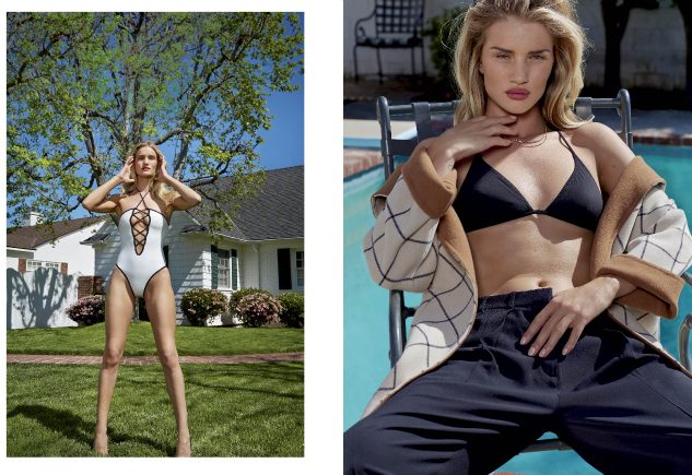 Rosie Huntington–Whitely Joins The Menswear Club For V Magazine