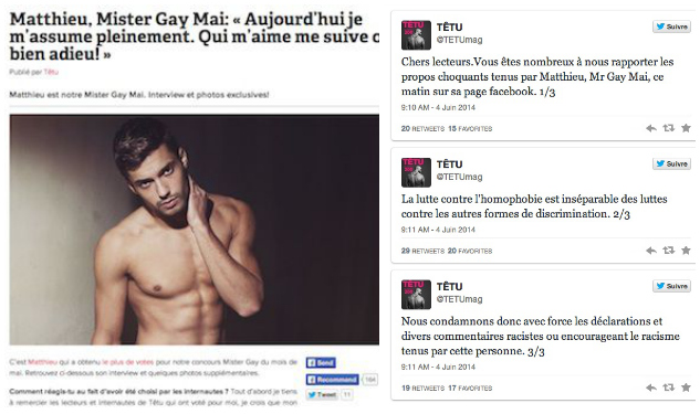 French 'Mister Gay' Turns Out To Be a Racist