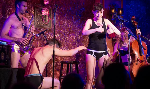 Underwear-clad Lena Hall Performs Dolly Parton, Sia Mashup