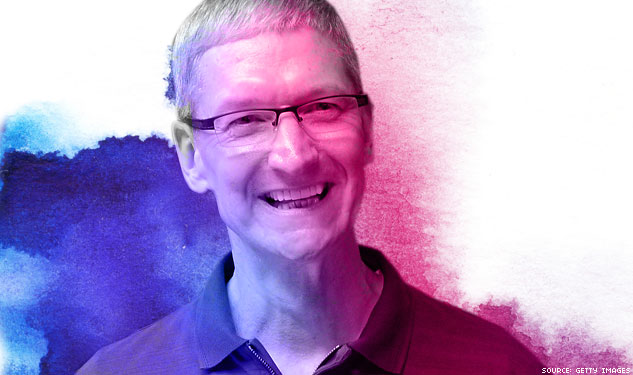 Tim Cook Accidentally Outed on CNBC