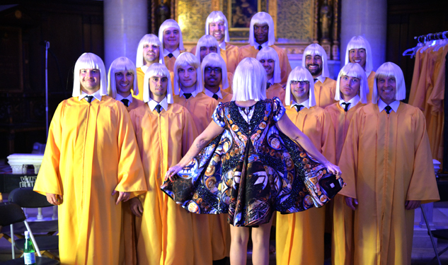 Sia and the NYC Gay Men's Chorus Perform 'Chandelier'