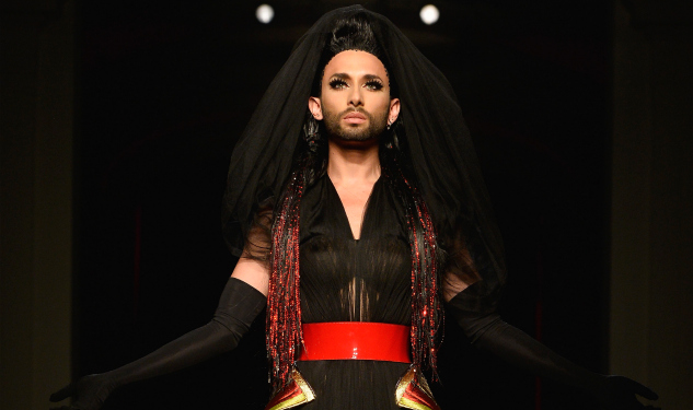 Conchita Wurst Closes Jean Paul Gaultier Couture Show