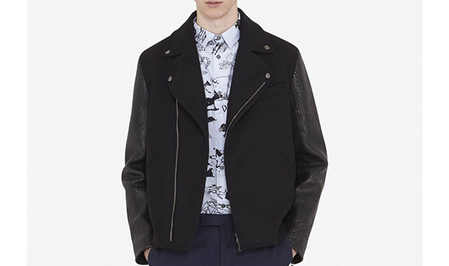 Daily Crush: Leather and Wool Jacket by Carven