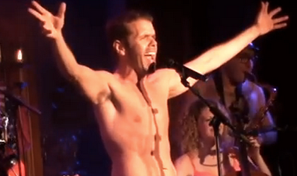 WATCH: Perez Hilton Strips, Sings Show Tunes