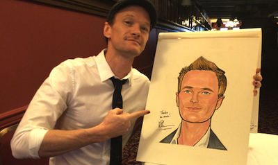 Neil Patrick Harris Gets Hung at Sardi's