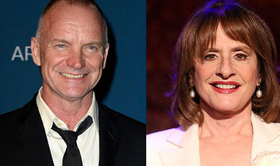 Sting & Patti LuPone to Headline Concert for Global Equality